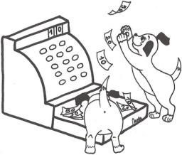 caisse dog money